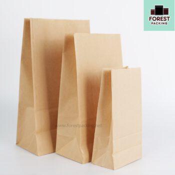 ถุงกระดาษ ถุงกระดาษคราฟท์ ถุงใส่ขนม ถุงใส่ขนมปัง ขยายข้าง สีน้ำตาล ตั้งได้ 1