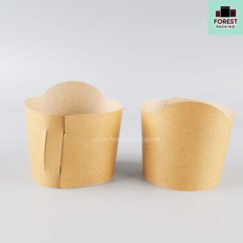 ปลอกแก้ว ปลอกแก้วกาแฟ กาแฟ ปลอกสวมแก้วกาแฟ สีน้ำตาล - SP ( 100 ใบ ) 1