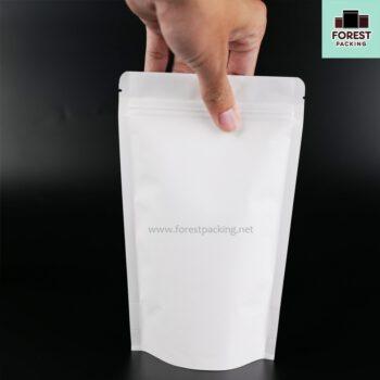 ถุงซิปล็อค ถุงกระดาษคราฟท์ ถุงคราฟท์ สีขาวทึบ ตั้งได้ สกรีนถุง งานสกรีน สกรีน