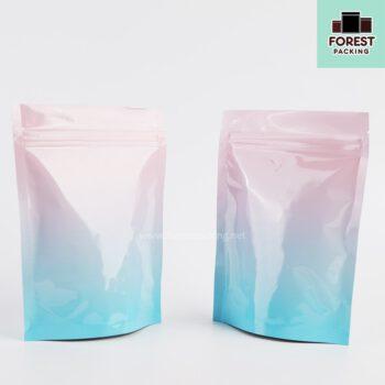 ถุงซิปล็อค ถุงใส่ขนม ถุงใส่อาหาร ถุงเมทัลไลท์ทึบ ลายเรนโบว์ สีพาสเทล ตั้งได้ สกรีนถุง งานสกรีน สกรีน